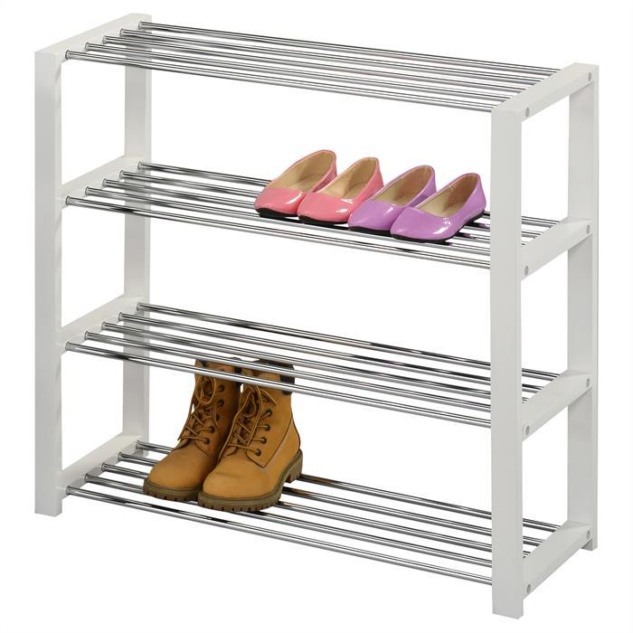 Etagère à chaussures ARINA, 4 tablettes, blanc