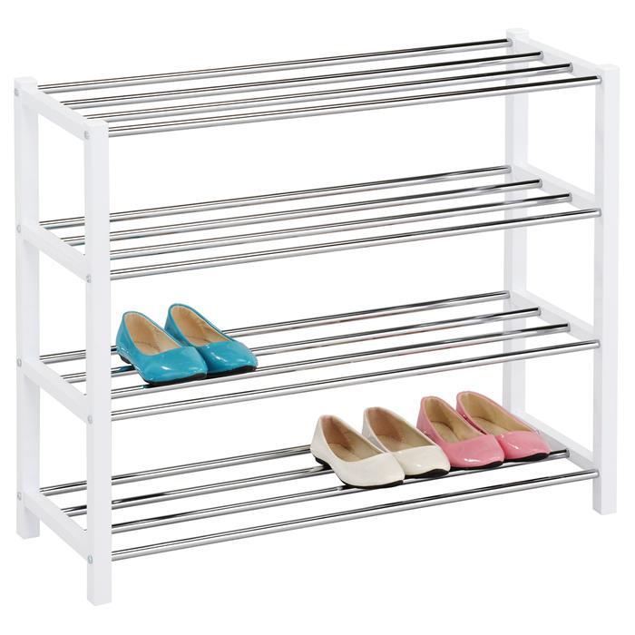 Etagère à chaussures DUBLIN blanc, 4 niveaux