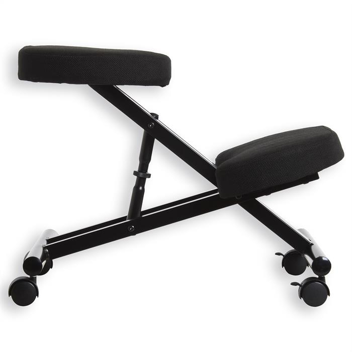 Tabouret ergonomique ROBERT, noir/noir