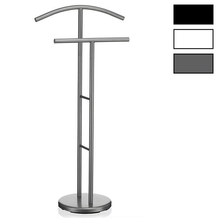 Valet LAURENZ, en métal laqué gris