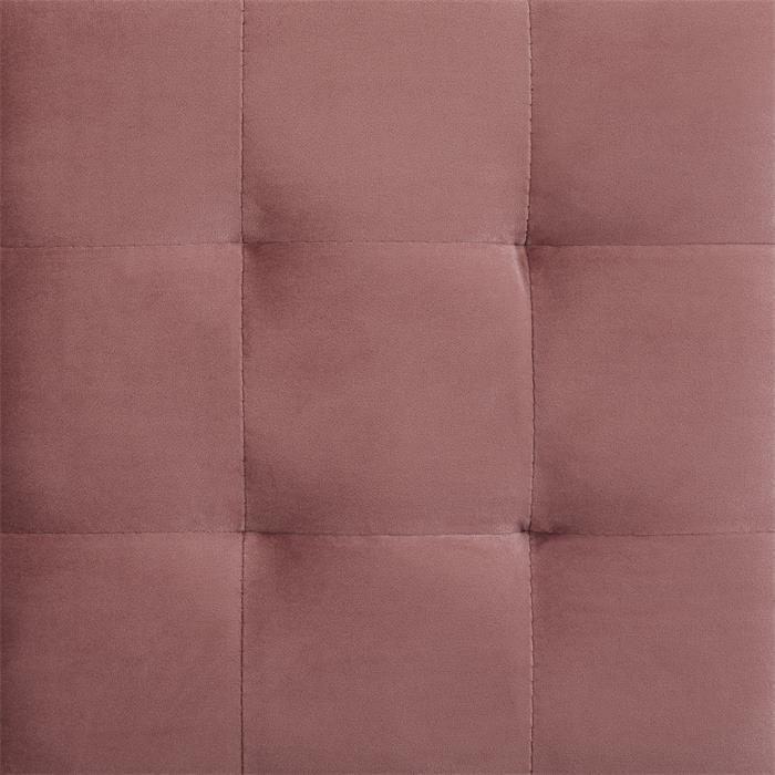 Tabouret pouf cubique BAZAR, en velours couleur cuivre