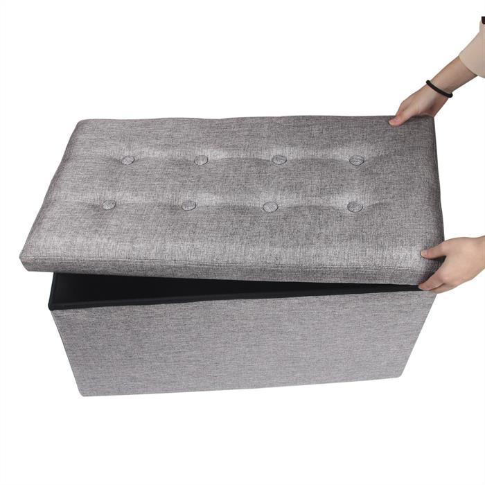 Banc de rangement CAMILA, gris