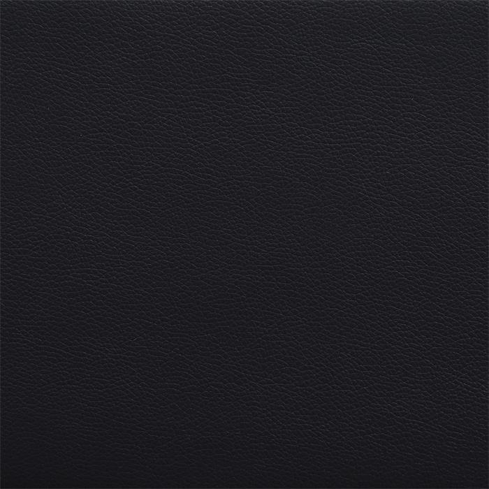 Lit double futon NIZZA, 160 x 200 cm, avec sommier, revêtement synthétique, noir