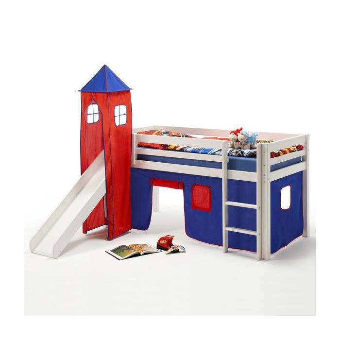 donjon max pour lit sur lev avec toboggan bleu rouge mobil meubles. Black Bedroom Furniture Sets. Home Design Ideas