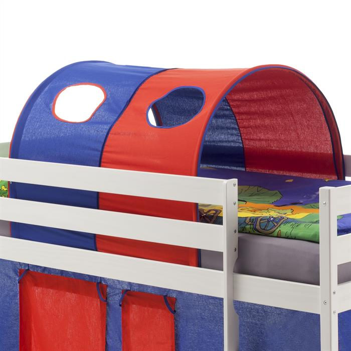 Tunnel MAX pour lit surélevé, bleu-rouge