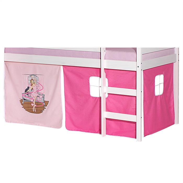 lot de rideaux pour lit sur lev motif danseuse mobil meubles. Black Bedroom Furniture Sets. Home Design Ideas