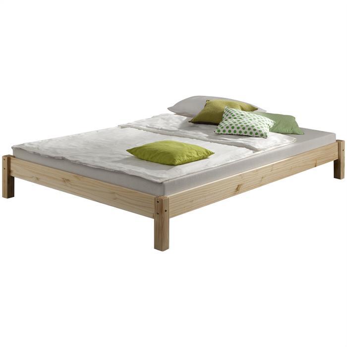 Lit futon TAIFUN, en pin massif, 120 x 200 cm, vernis naturel