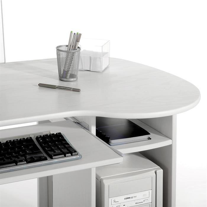 Bureau en pin BOB, lasuré blanc