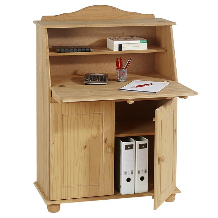 Bureau secr taire david finition cir e mobil meubles for Meuble bureau refermable