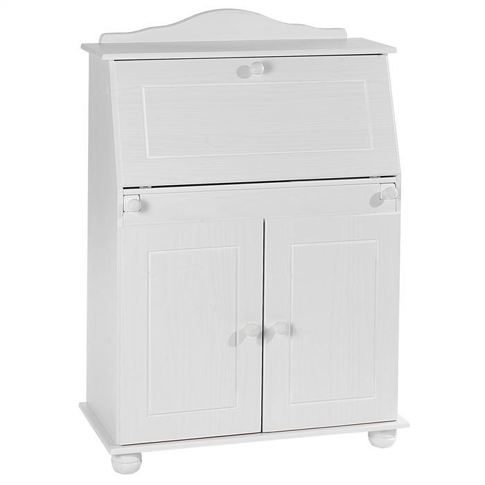 Bureau secr taire david lasur blanc mobil meubles - Bureau secretaire blanc ...