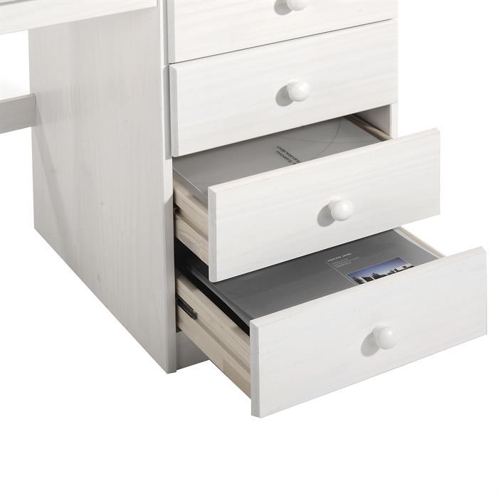 Bureau en pin MANAGER, lasuré blanc