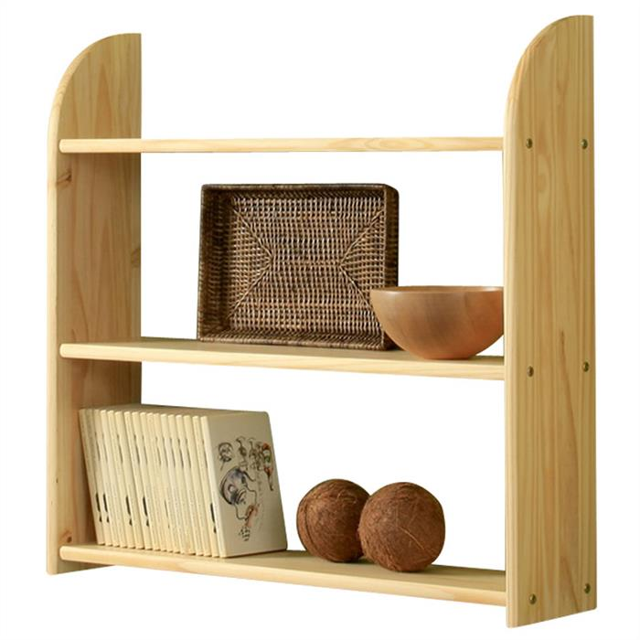 Etagère murale en pin HÄ-REGAL, 3 tablettes, vernis naturel