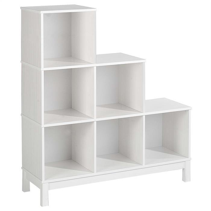 etag re escalier en pin logo 6 casiers lasur blanc mobil meubles. Black Bedroom Furniture Sets. Home Design Ideas