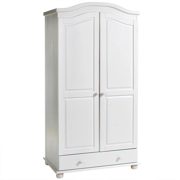 armoire en pin bergen lasur blanc mobil meubles. Black Bedroom Furniture Sets. Home Design Ideas