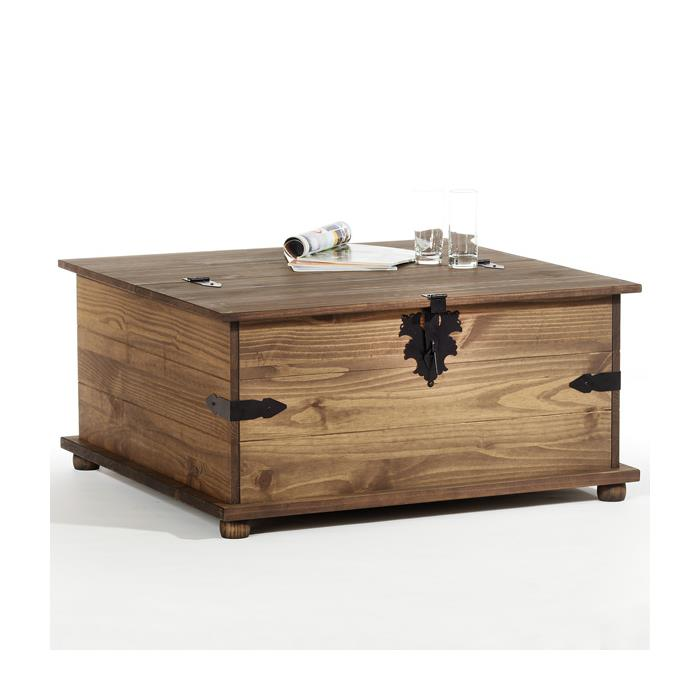 Table basse coffre style mexicain for Table basse avec coffre