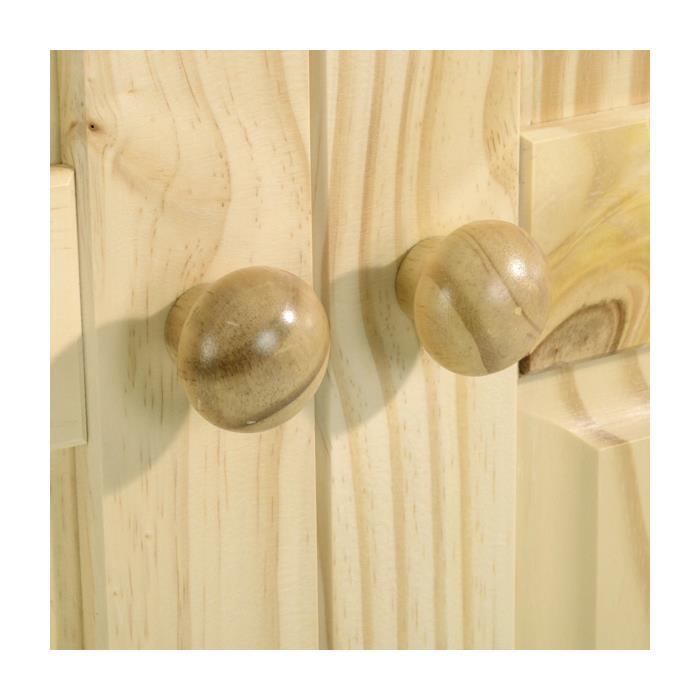 Armoire en pin TULUM, 2 portes, vernis naturel