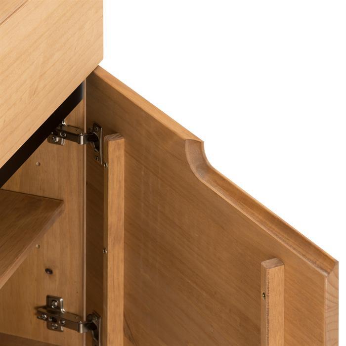 Buffet TIBOR, 2 tiroirs et 2 portes, finition bois teinté