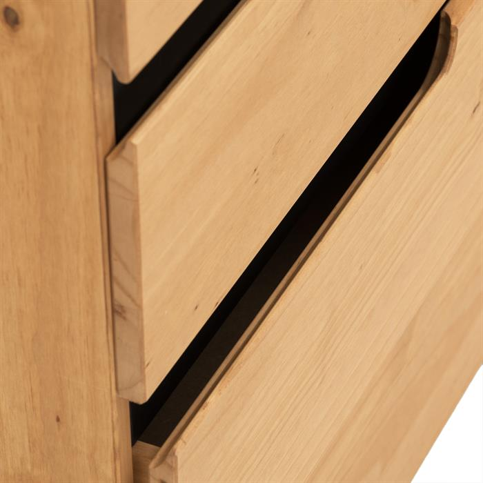 Commode TIBOR, 4 tiroirs, finition bois teinté