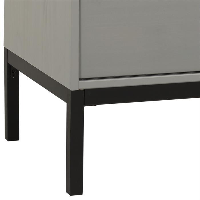 Meuble TV SELMA, 1 porte coulissante, lasuré gris