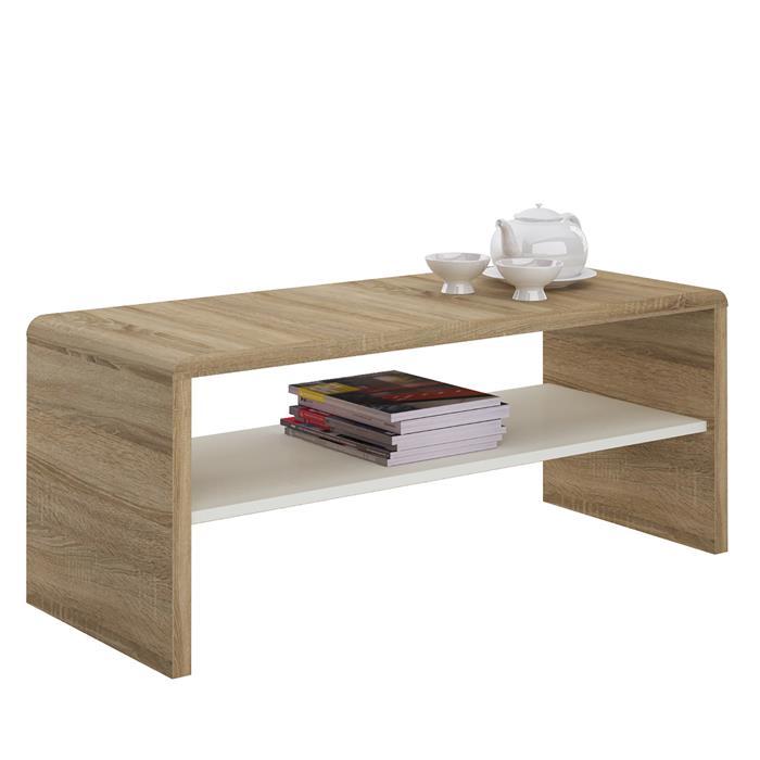 table basse meuble tv noelle en m lamin d cor ch ne. Black Bedroom Furniture Sets. Home Design Ideas