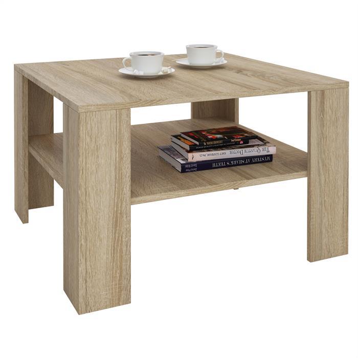 Table basse SEJOUR, en mélaminé décor chêne sonoma