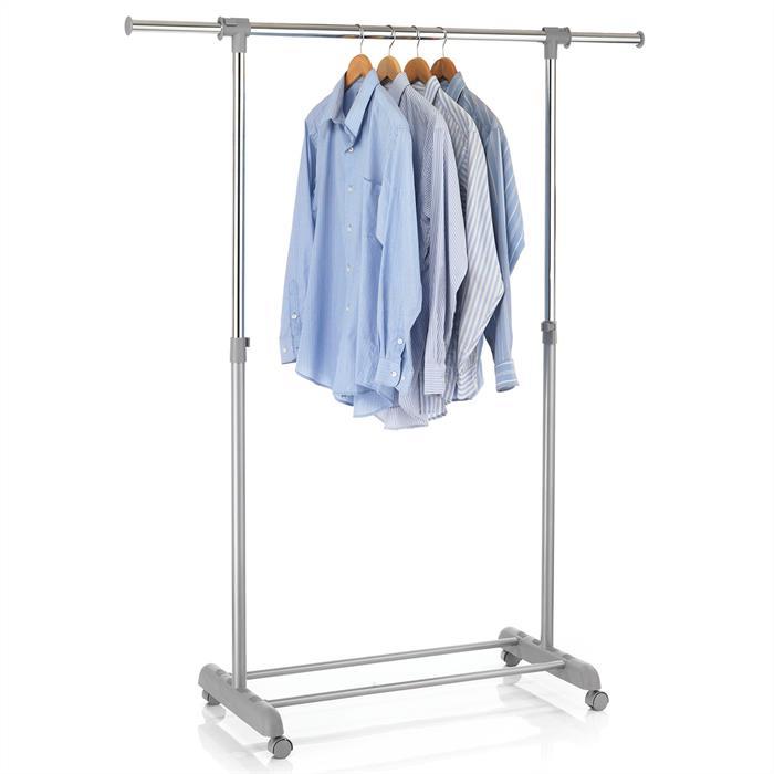 Portant à vêtements SALA, en métal chromé et gris