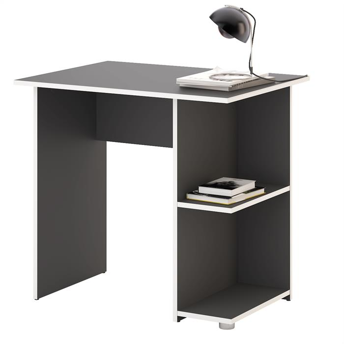 bureau nova m lamin gris mat et blanc mobil meubles. Black Bedroom Furniture Sets. Home Design Ideas