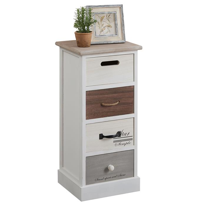 chiffonnier salva 4 tiroirs blanc mobil meubles. Black Bedroom Furniture Sets. Home Design Ideas