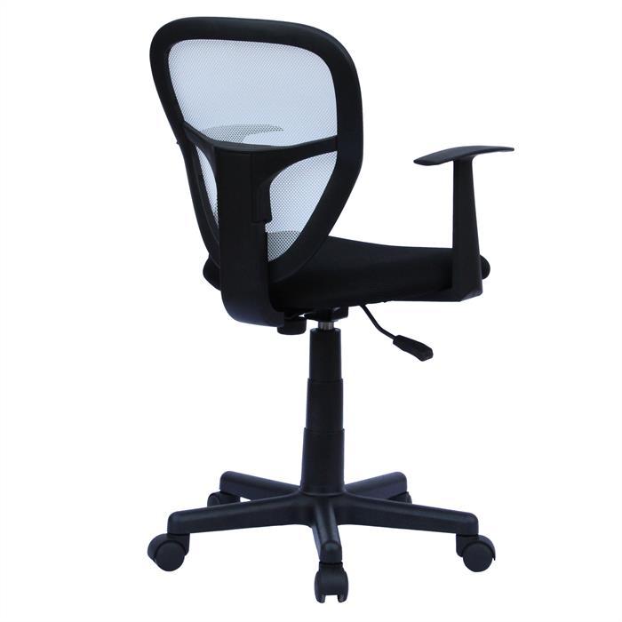Chaise de bureau pour enfant STUDIO, noir et blanc