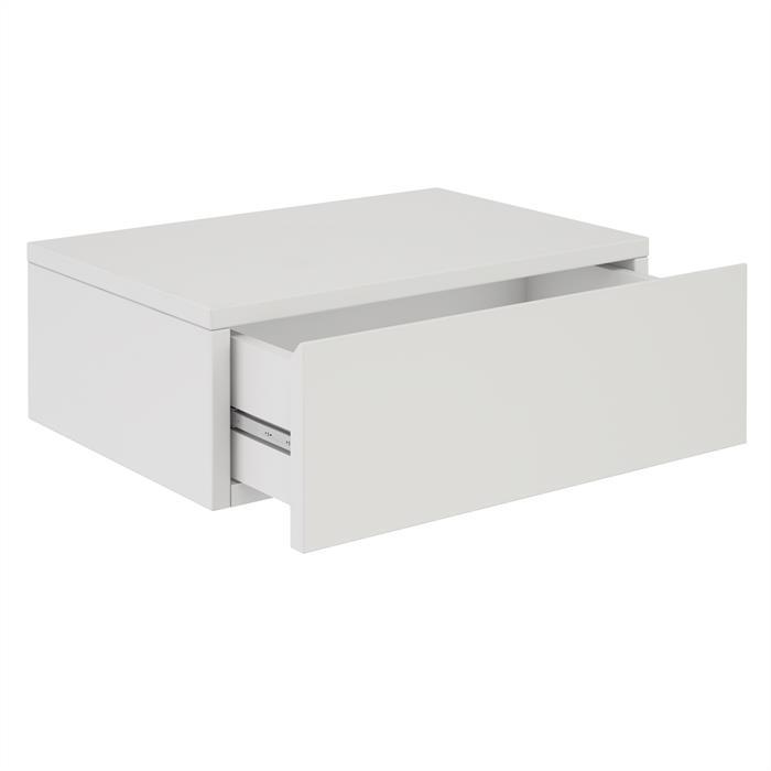 chevet suspendu oceane 1 tiroir m lamin blanc mat mobil meubles. Black Bedroom Furniture Sets. Home Design Ideas