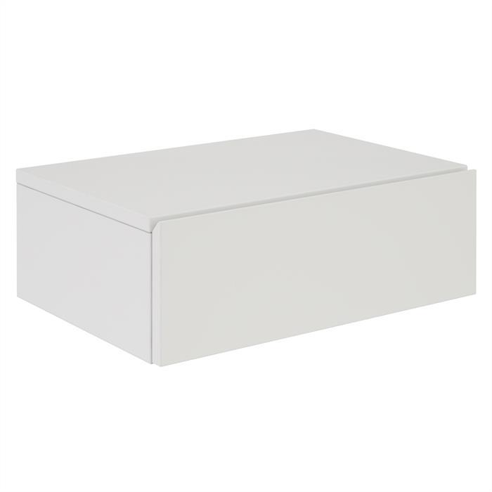 Chevet suspendu OCEANE, en mélaminé blanc mat