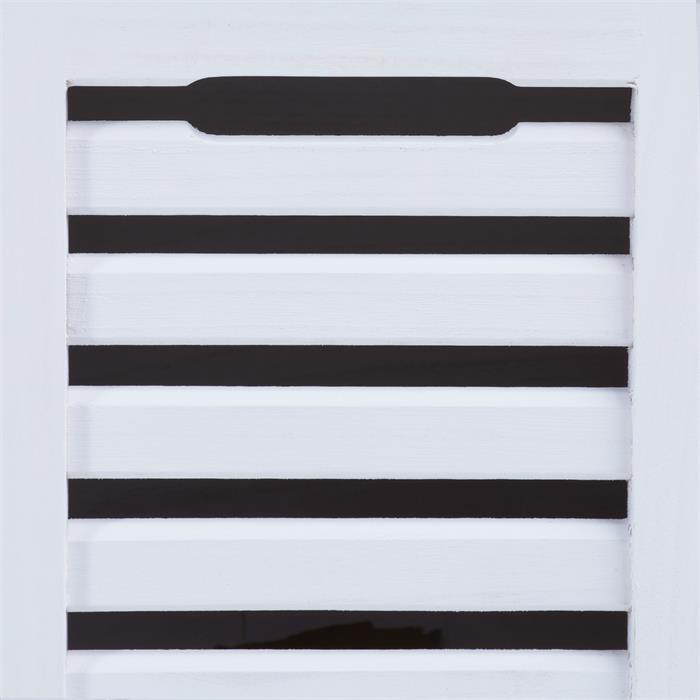 Banc de rangement TRIENT, 3 caisses, blanc