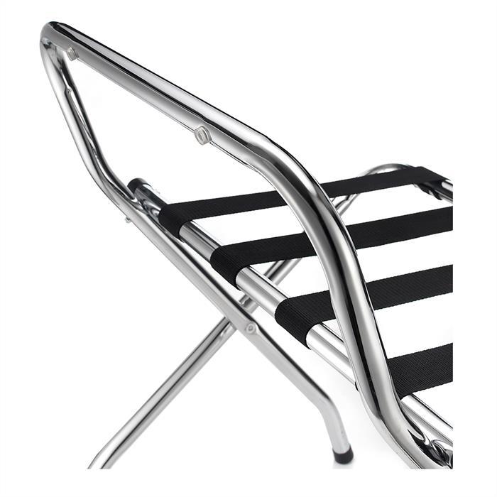 Porte-bagages SUITE avec protection, structure pliable en métal chromé