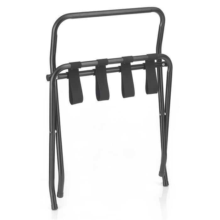 Porte-bagages SUITE avec protection, structure pliable en métal noir