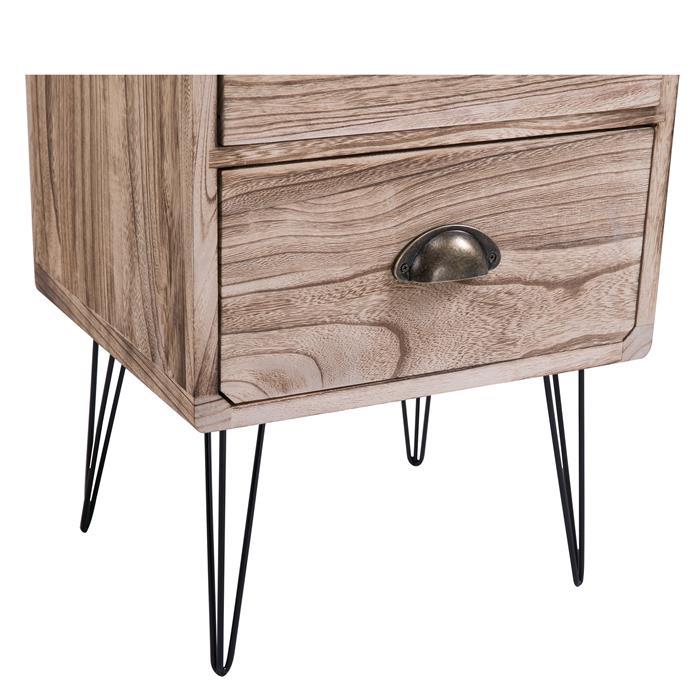 Table de chevet MALIA, 2 tiroirs