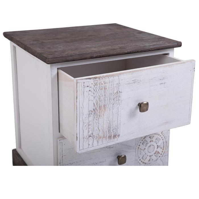 Table de chevet JUNA, 2 tiroirs