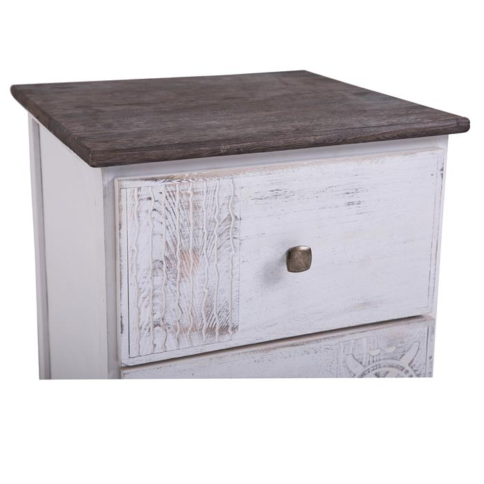Table de chevet JUNA, 2 tiroirs