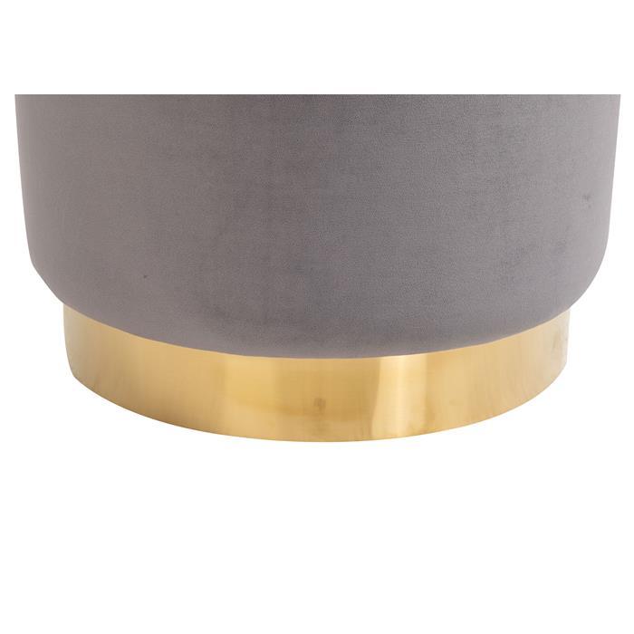 Tabouret pouf SESTO, en velours gris