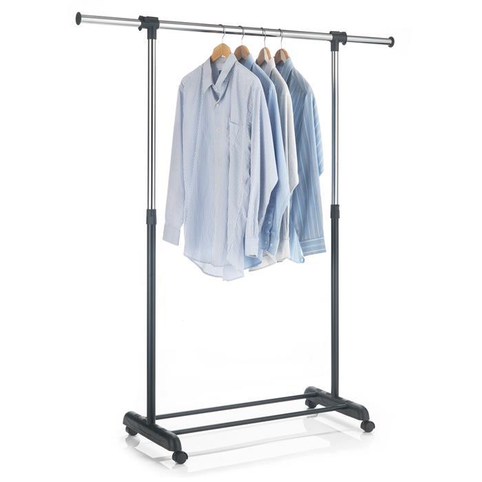 Portant à vêtements SALA, en métal chromé et noir