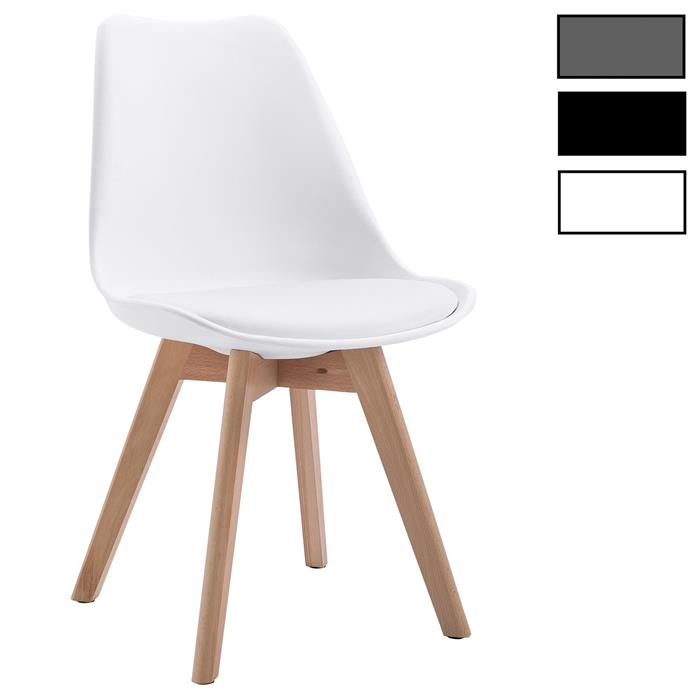Lot de 4 chaises scandinaves ABBY, en synthétique