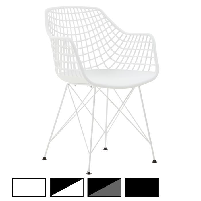 Lot de 4 chaises ALICANTE, en plastique