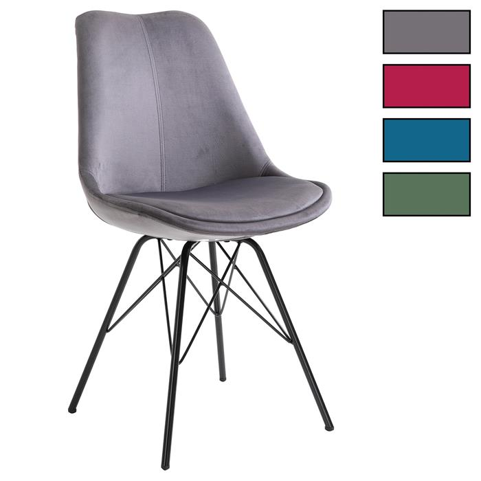 Lot de 2 chaises EVEREST, en velours