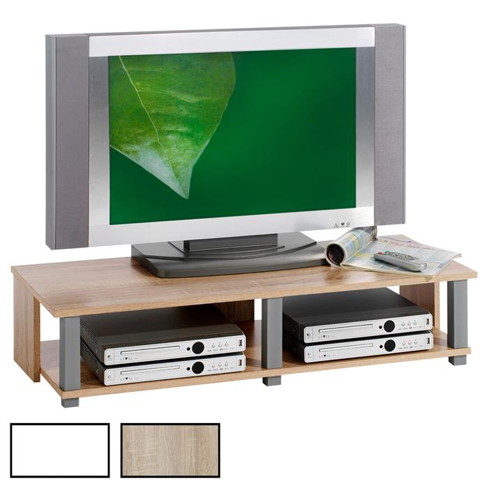 Meuble TV GERO, 2 niches, 2 coloris disponibles