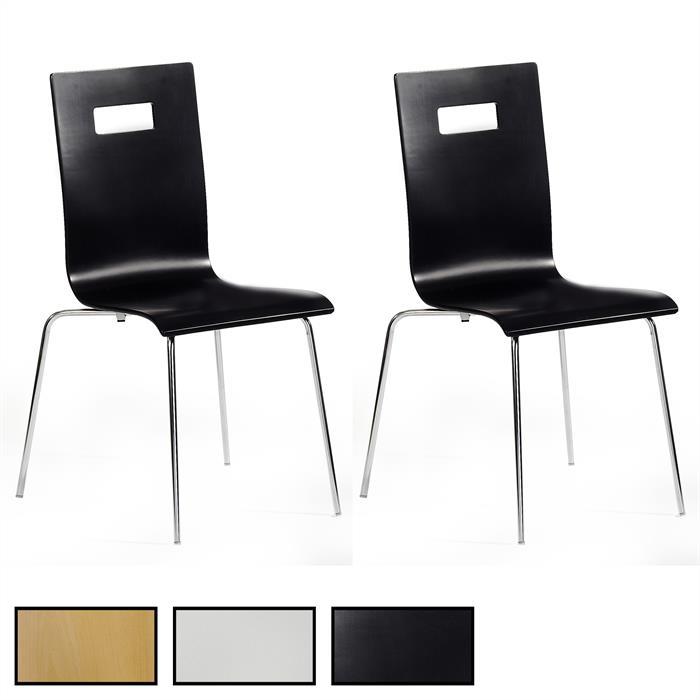 Lot de 4 chaises IVANCA, 3 coloris disponibles
