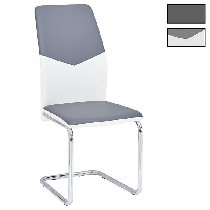 Lot de 4 chaises LEONA, revêtement synthétique