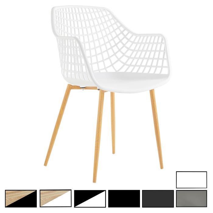 Lot de 4 chaises LUCIA, en plastique
