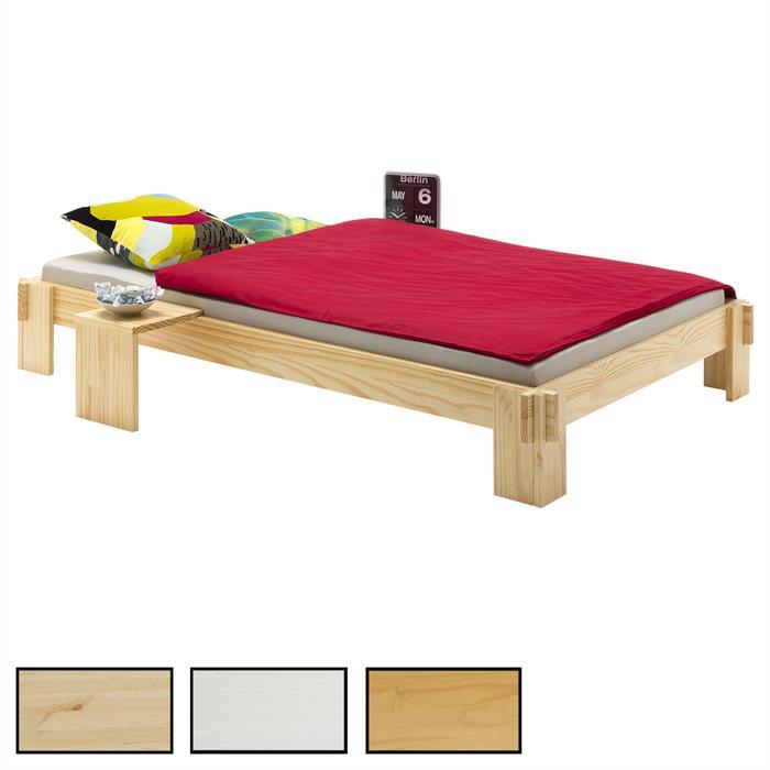 Lit futon en pin LUIS, 4 tailles et 3 coloris disponibles