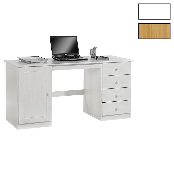 Bureau en pin MANAGER, 2 coloris disponibles
