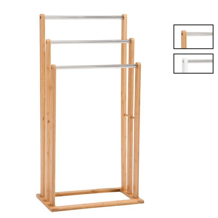 Porte serviettes melton en bambou mobil meubles - Porte serviette en bambou ...