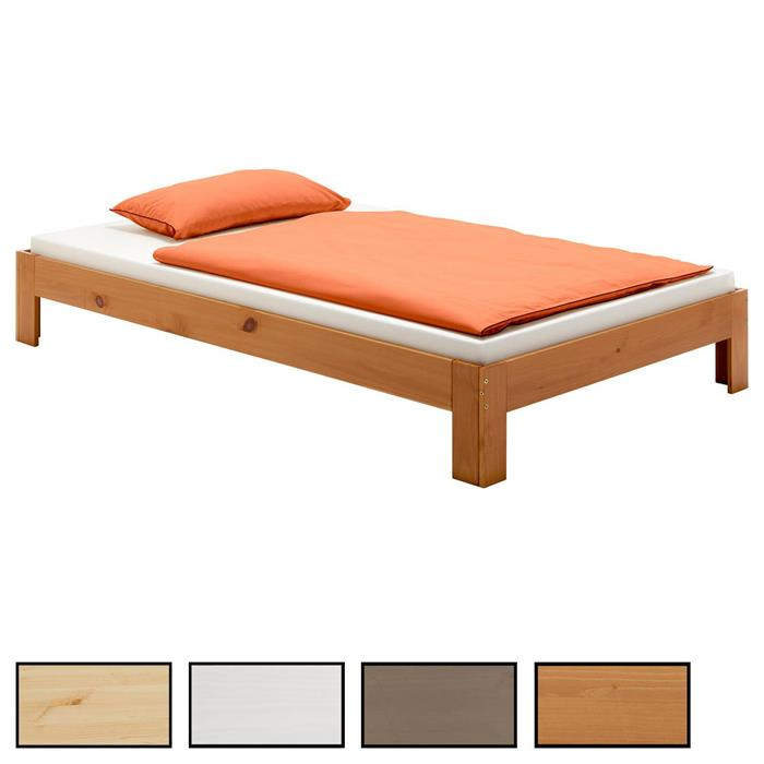 Lit futon THOMAS, en pin massif